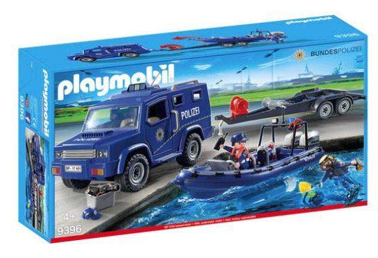 Playmobil City Action   Bundespolizei Truck mit Schnellboot (9396) für 23,94€ (statt 35€)