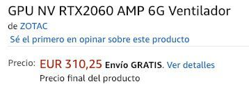 Zotac GeForce RTX 2060 6GB Grafikkarte für 310€ (statt 370€)
