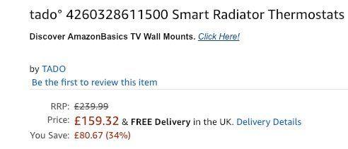 4er Set tado° Smarte Heizkörper Thermostate für 181€ (statt 257€)