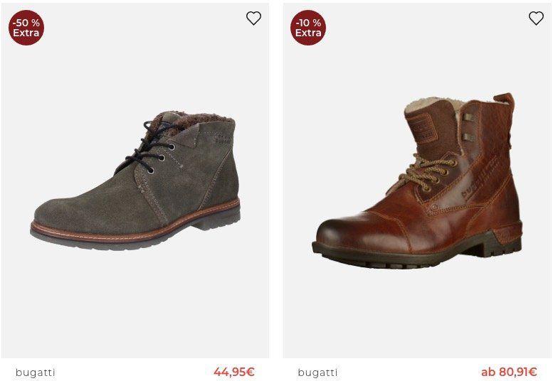 TOP! About You Stiefel & Boots Sale bis  50% + 10% Gutschein   z.B. bugattiSalva Sport Stiefel für 56,64€ (statt 75€)