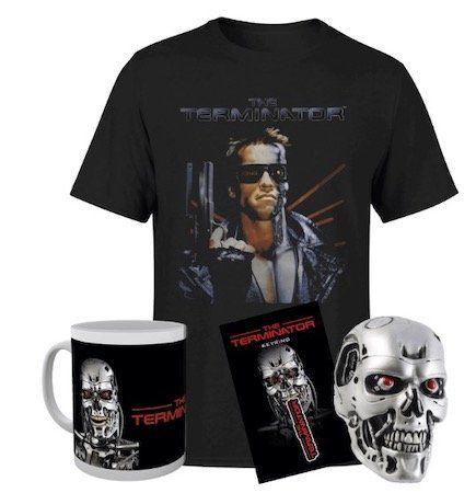 Terminator T 800 Bundle (Tasse, Schlüsselanhänger, Terminator Kopf, T Shirt) ab 18,36€