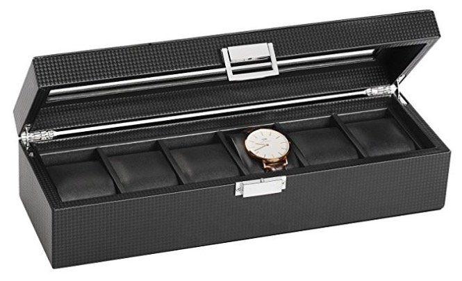 Sweetv Uhrenbox für 6 Uhren für 17,99€ (statt 36€)