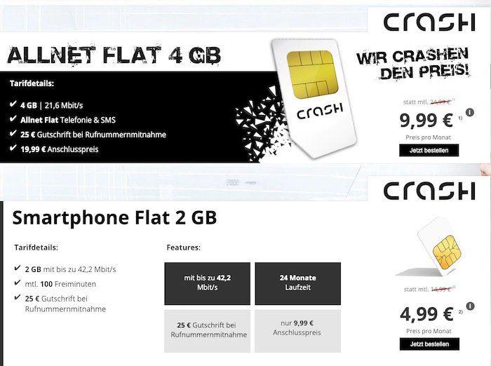 Endet bald! Vodafone Netz mit 2GB und 100 Minuten für 4,99€   oder Allnet Flat mit 4GB für 9,99€ monatlich