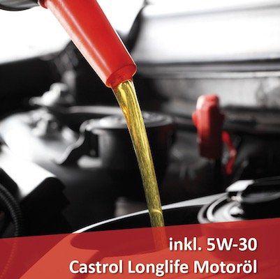 Ölwechsel bei A.T.U. inkl. Ölfilter und mit 5W 30 Castrol LL Motoröl für 89,99€