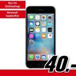 Apple iPhone 6s 32GB für 40€ + o2 Allnet-Flat mit 3GB LTE für 14,99€ mtl.
