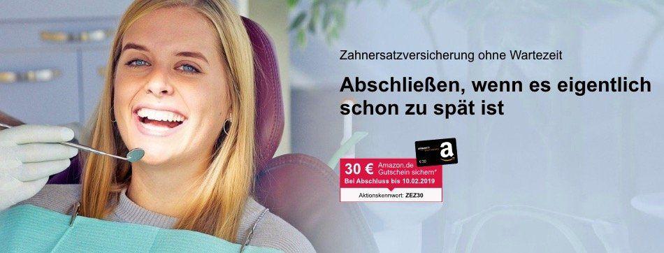 ? ERGO Direkt Zahnersatzversicherung 22,40€ mtl. + 30€ Amazon Gutschein   zahlt, auch wenn es eigentlich schon zu spät ist!