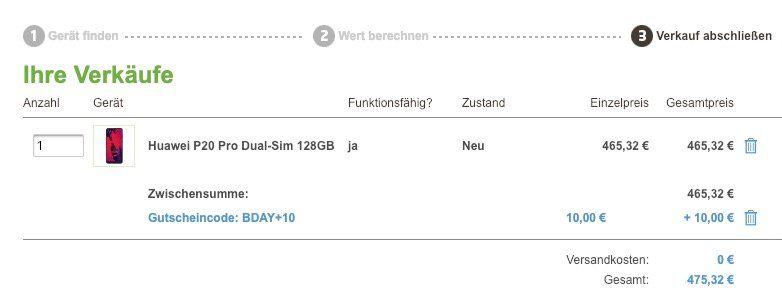 Huawei P20 Pro für 40€ + Vodafone Allnet Flat mit 1GB für 21,99€ mtl.