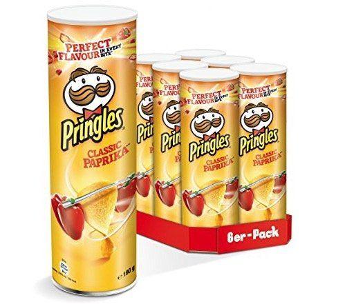 Vorbei! 6er Pack Pringles Original Paprika ab 5,89€ – nur 0,98€ pro Rolle