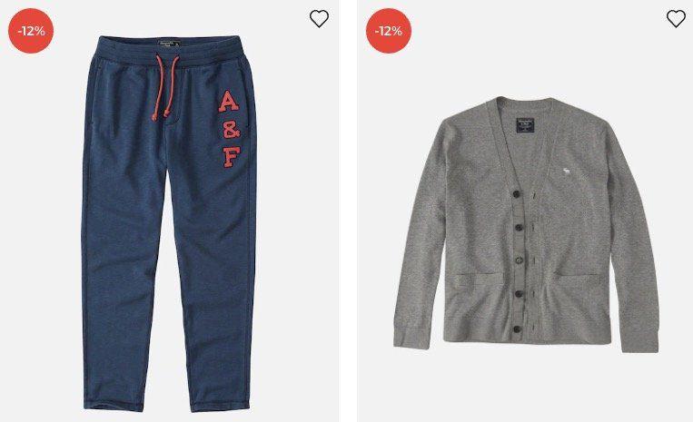Abercrombie & Fitch Sale bei About You + 30% Gutschein ab 75€ + keine VSK   z.B. Fullzip Sweatjacke mit Brust Schriftzug für 62,93€