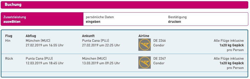 Last Minute: Hin  und Rückflug von München nach Punta Cana (Dom. Rep.) inkl. 20kg Gepäck nur 379€ p.P.