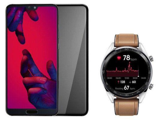 Huawei P20 Pro mit Huawei Watch GT für 4,95€ + o2 Free M Allnet Flat mit 10GB LTE für 29,99€