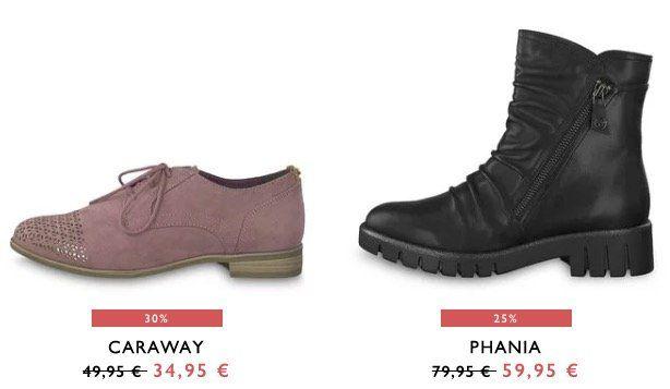 Tamaris Sale bis  50% + VSK nur 0,95€   z.B. Stiefelette Phania für 60,90€ (statt 80€)