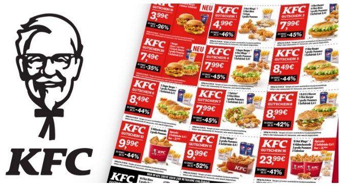 Kentucky Fried Chicken   KFC Rabattgutscheine bis 23. Februar 2020   zum Ausdrucken