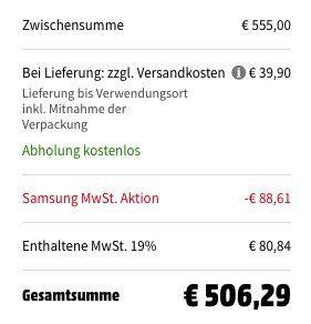 Samsung DV81M5210QW Wärmepumpentrockner mit 8kg ab 466,39€ (statt 556€)