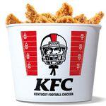 Heute: KFC Touchdown Bucket mit 40 Hot Wings + 2 Dosen Rockstar Energy + KFC Fan-Helm für 24,99€ (statt 34€)