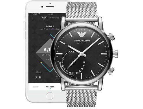 EMPORIO ARMANI ART3007 Connected Smartwatch, Edelstahl, 200 mm für 149€ (statt 207€)