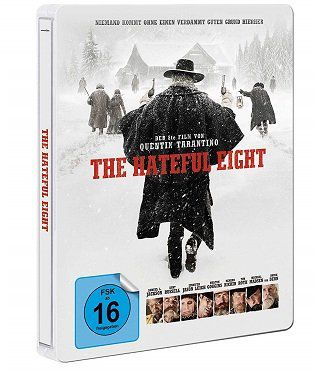 The Hateful 8 Steel Edition als Blu ray für 9€ (statt 19€)