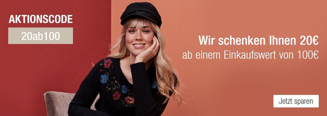 Galeria Kaufhof Sonntagsangebote: 20€ Sofortrabatt ab 100€ Warenwert