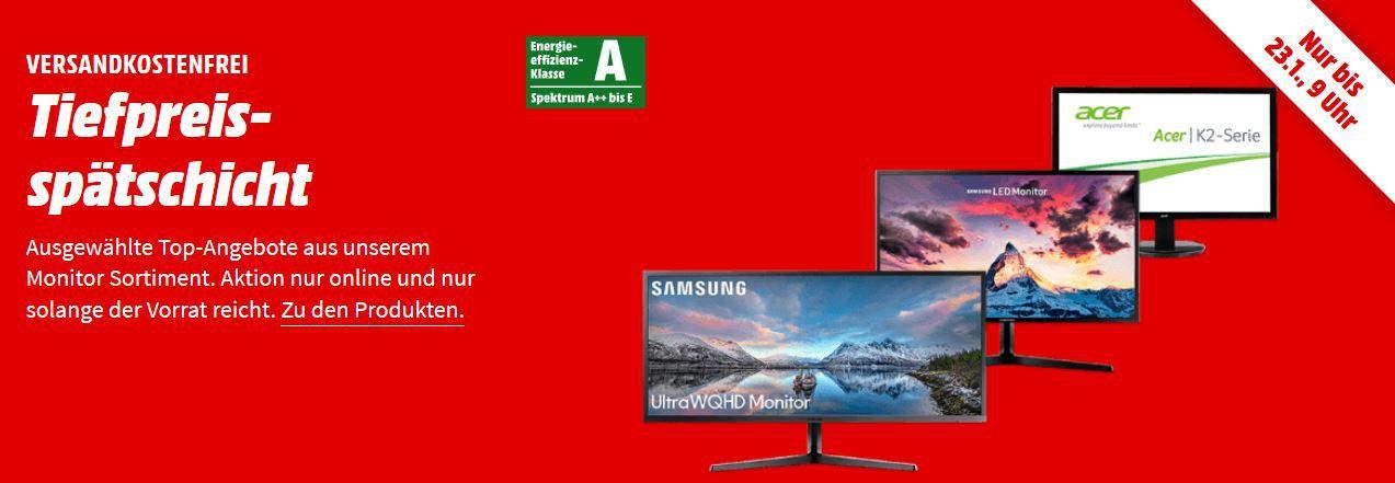 Media Markt Monitor Tiefpreisspätschicht: z.B: ACER Curved WQHD Monitor für 259€