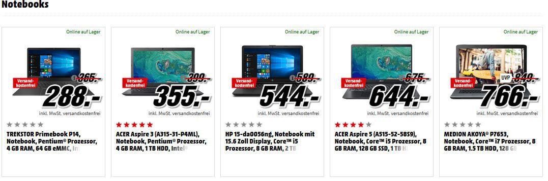 Media Markt GiGaGünstig Sale: PC Hardware & Zubehör reduziert z.B. TREKSTOR SurfTab duo W1 für 155€ (statt 230€)