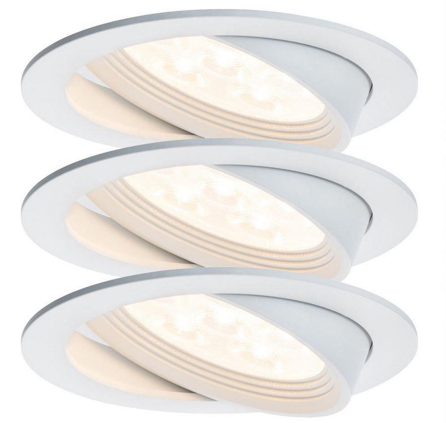 Paulmann Albina Premium Line   LED Einbauleuchte Weiß für 39,99€ (statt 49€)
