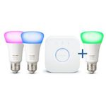 Philips Hue White and Color Ambiance 3x E27 💡 inkl. Bridge ab 89,10€ (statt 119€)