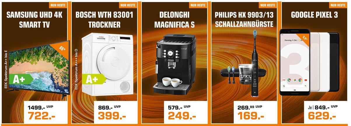 Saturn Nachbescherung   Heute z.B. DELONGHI Ecam 21.116.B Magnifica S Kaffeevollautomat für 249€ (statt 309€)