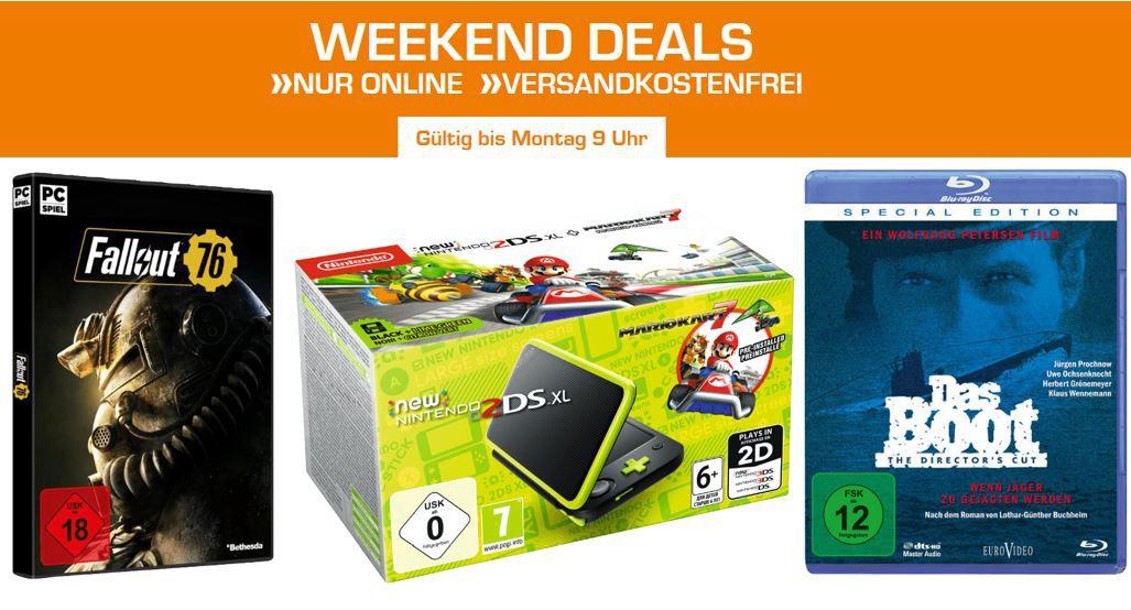 Saturn Entertainment Weekend Deals: z.B. Nintendo New 2DS XL + Mario Kart 7 für 129€ (statt 149€)