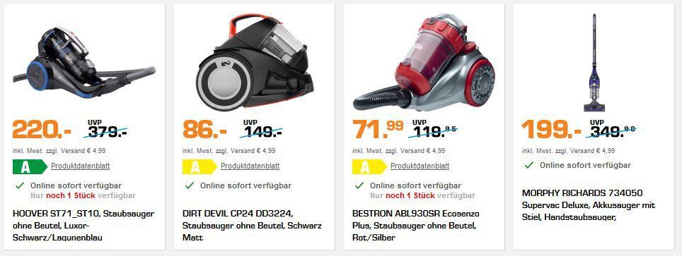 Saturn Preisturz: günstige Restposten & Einzelstücke   z.B. ARIETE Standmixer 430 Watt für 22€ (statt 51€)