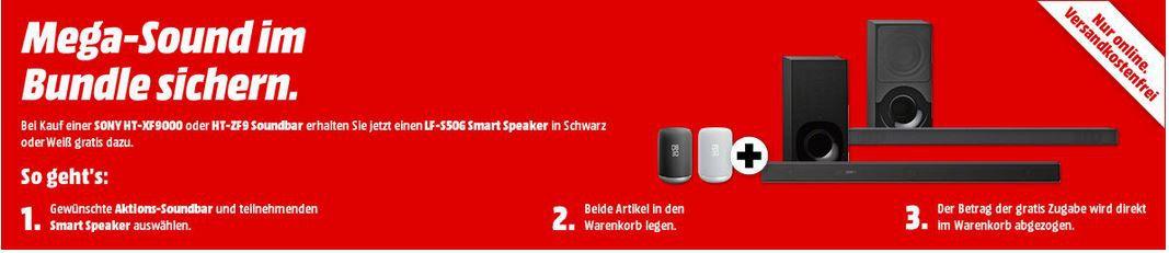 Top! Soundbar Sony HT XF9000 + Smartspeaker Sony LF S50 für 385€ (statt 514€)