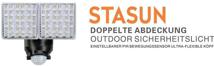 Stasun 20W LED Strahler mit Bewegungsmelder und IP65 für 30,94€ inkl. Versand (statt 39€)