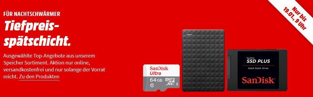 Media Markt Speicher Tiefpreisspätschicht: z.B: CRUCIAL P1 500 GB SSD M.2 PCIe für 69€ (statt 81€)