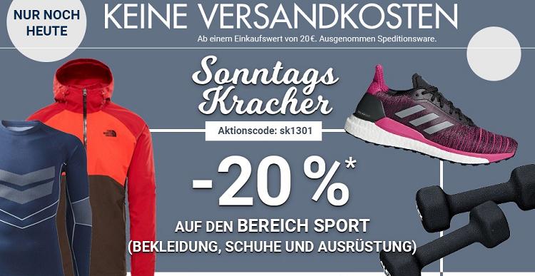 Karstadt Sonntags Kracher mit 20% Rabatt auf Sportbekleidung und  ausrüstung
