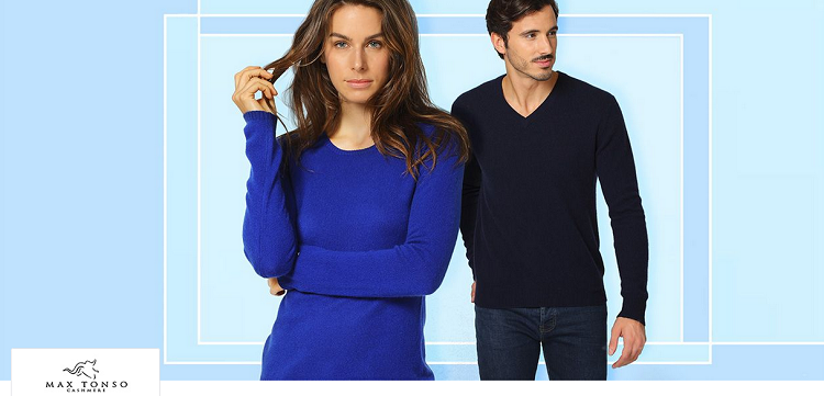 Max Tonso Cashmere Sale bei Vente Privee   z.B. Kaschmir Pullover ab 65,99€