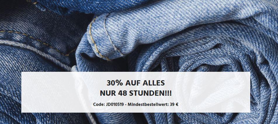 Bis Mitternacht: Jeans Direct mit 30% Rabatt auf Alles ab 39€! (VSK frei ab 40€)
