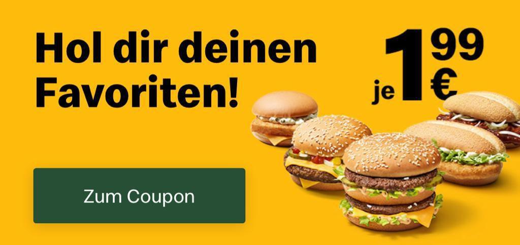 Royal Käse, Filet O Fish, McChicken, BigMac oder McRib je nur 1,99€ (statt 4€ oder mehr)