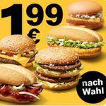Royal Käse, Filet-O-Fish, McChicken, BigMac oder McRib je nur 1,99€ (statt 4€ oder mehr)