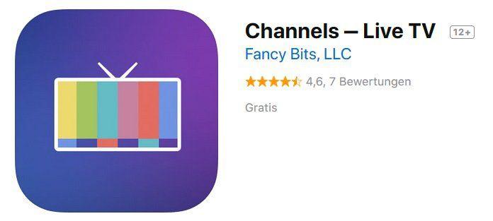 iOS: Channels ‒ Live TV gratis (statt 17€)