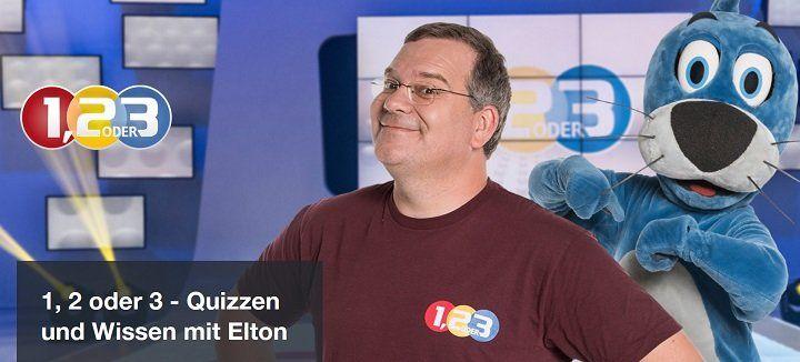 """Freikarten für die Kinderquizsow """"1,2 oder 3"""" mit Elton"""