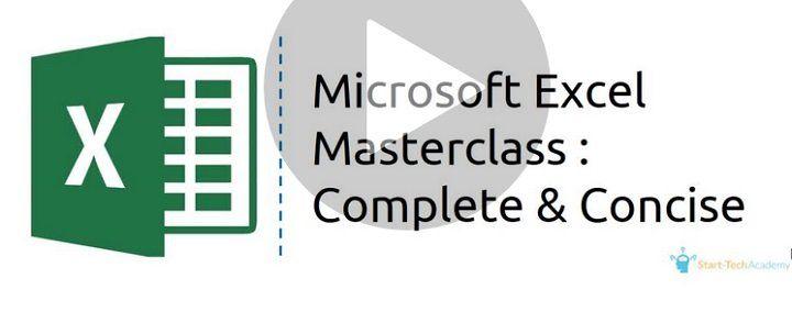 Wieder da! Microsoft Excel Masterclass: Complete and Concise gratis (statt 14,99€)