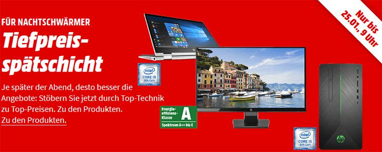 Media Markt HP Tiefpreisspätschicht bis 9 Uhr: z.B. HP 24 W Full HD Monitor (5 ms Reaktionszeit) (statt 110€)