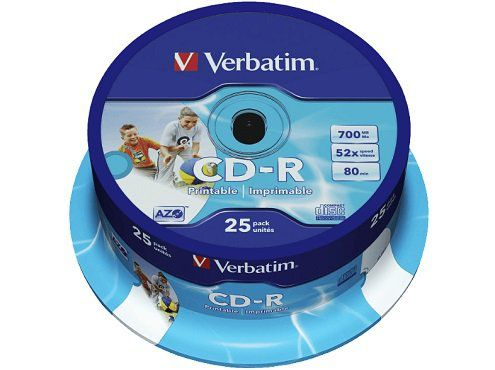 VERBATIM 43439 CD R Rohlinge 25er Spindel für 7,99€ (statt 10€)