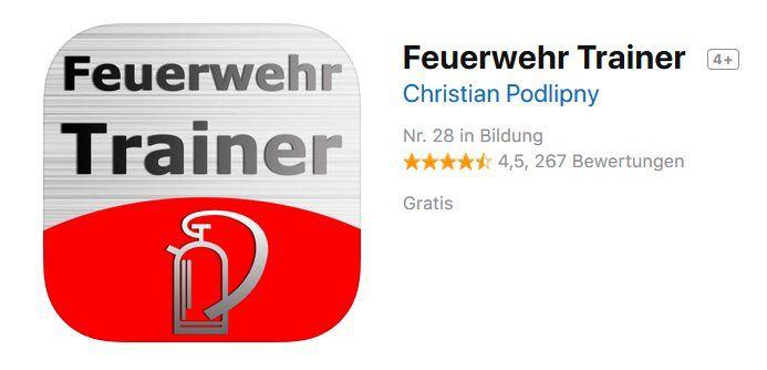 Feuerwehr Trainer gratis im AppStore
