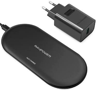 RAVPower RP PC067   10W Qi Ladegerät inkl. Adapter für 18,50€ (statt 37€)