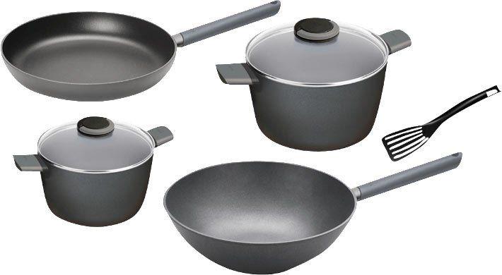 Top! WOLL Just Cook Topf  und Pfannenset (Aluminiumguss) 5 teilig für 60,99€ (statt 96€)