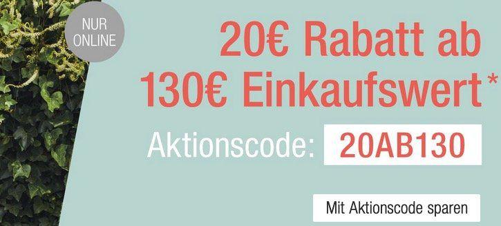 Galeria Kaufhof: 20€ Sofortrabatt auf fast Alles ab 130€ Warenwert