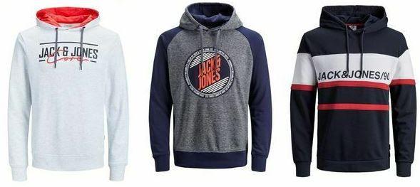 JACK & JONES Herren Hoodies 9 Modelle bis 2XL für je 19,99€ (statt 25€)