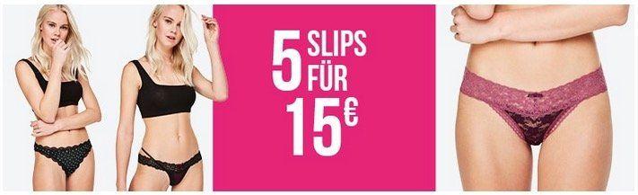 Hunkemöller: 5 Slips für 15€