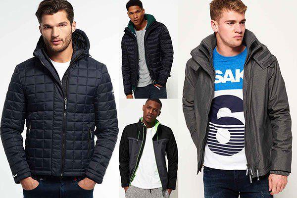 Neue Herren Superdry Jacken   18 Modelle & Farben für je 31,46€