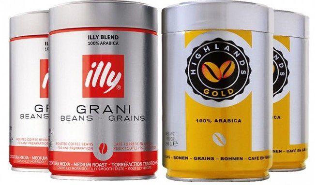 1kg Premiumpaket mit illy + Highlands Gold Kaffeebohnen für 24,99€ (statt 39,78€)